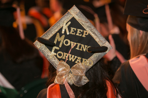 """Keep Moving Forward"" Decorated Cap"