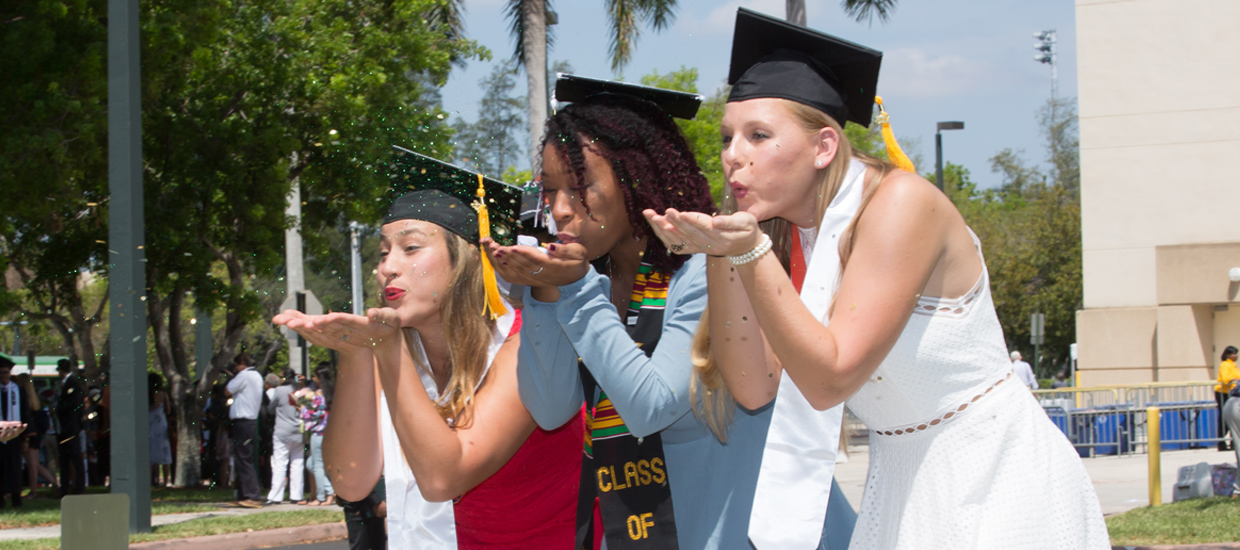Grads Blowing Kisses