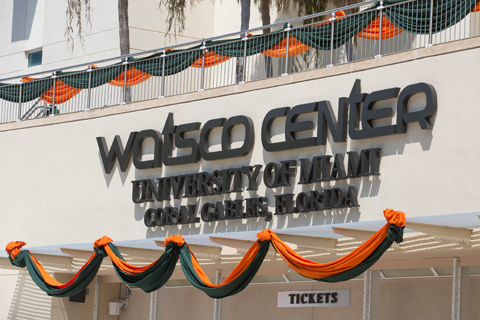 Outside of Watsco Center